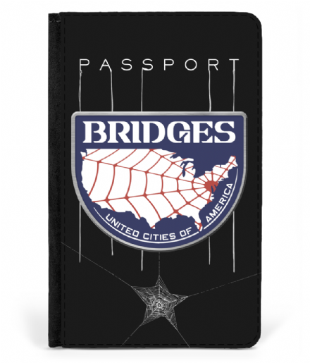 Bridges UCA Faux Leather Passport Cover Inspired by Death Stranding